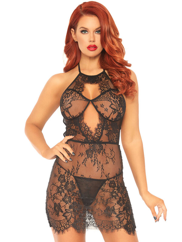 Chemise Leg Avenue 86109 Lace dress and string