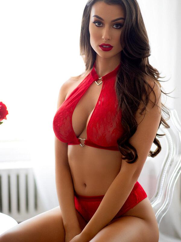 Set sexy Leg Avenue 86116 Halter top & thong panty