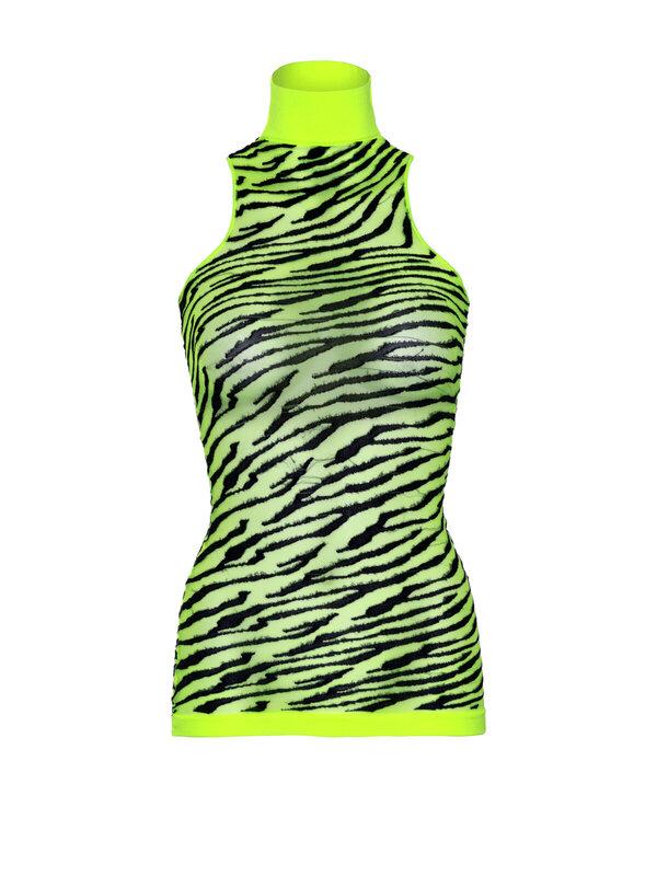 Chemise Leg Avenue 86159 High neck zebra mini dress