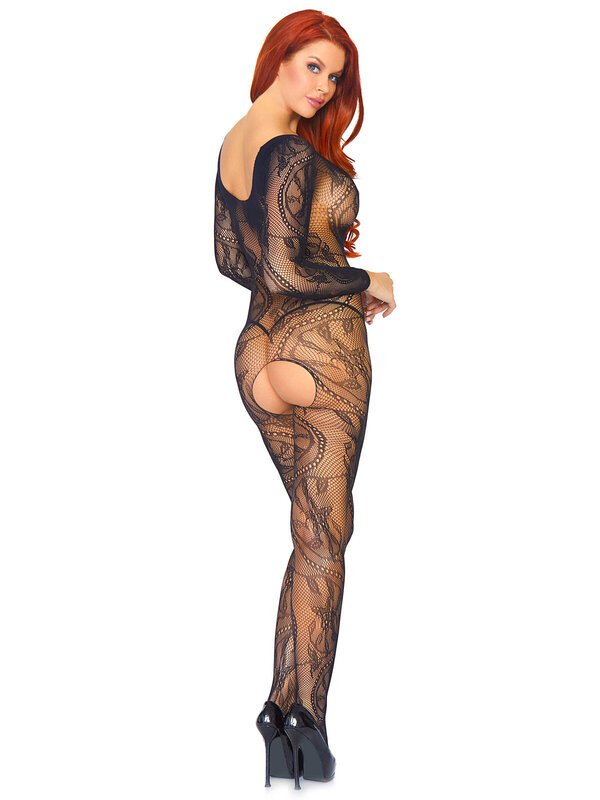 Catsuit Leg Avenue 89108 Swirl Lace Bodystocking