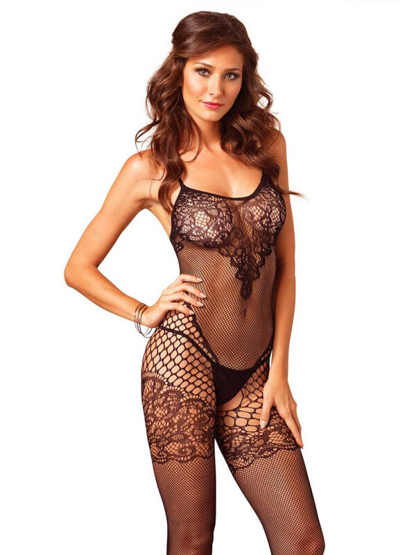 Catsuit Leg Avenue 89136 Seamless dual net bodystocking