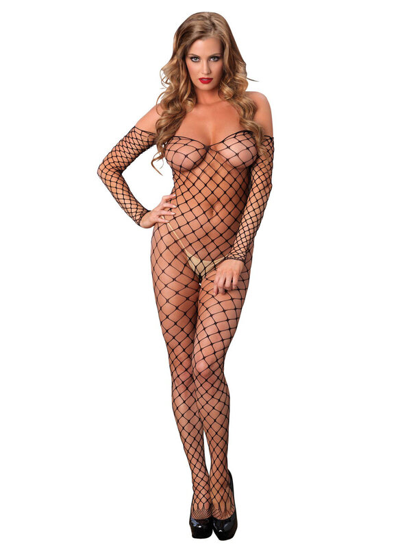 Catsuit Leg Avenue 89142 Off the shoulder bodystocking