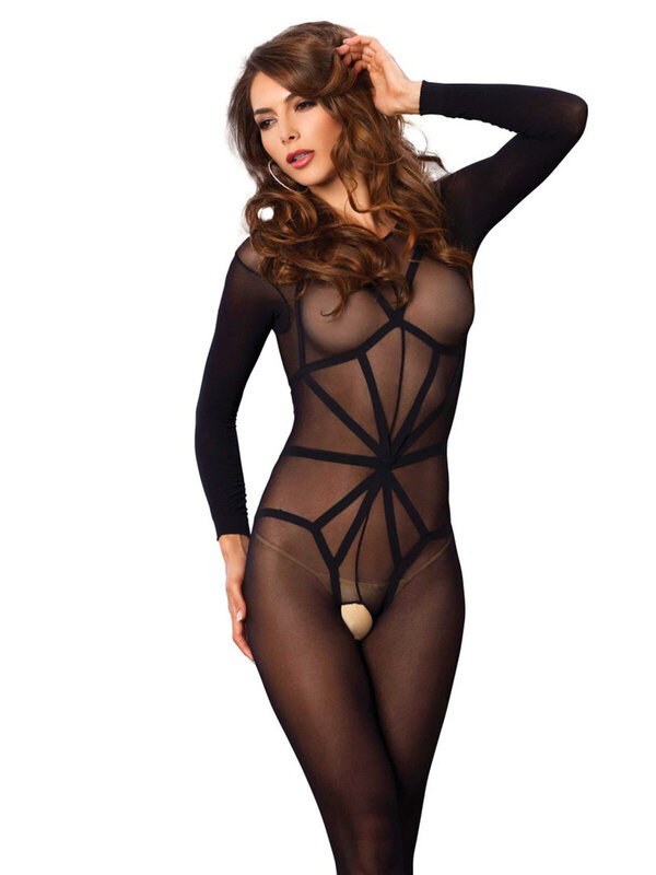 Catsuit Leg Avenue 89151 Opaque illusion bodystocking