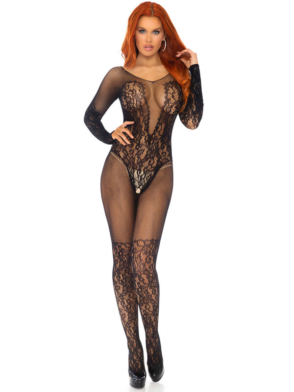 Catsuit Leg Avenue 89190 Vine lace and net bodystocking