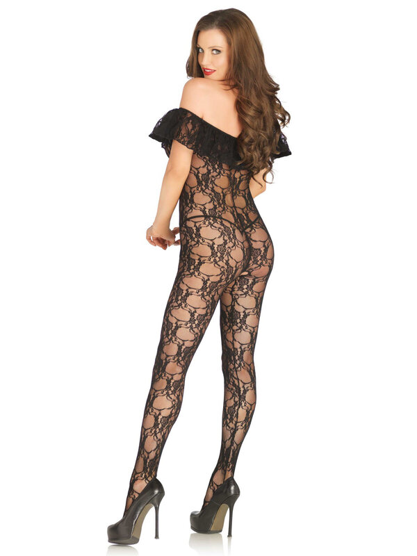 Catsuit Leg Avenue 89197 Floral lace bodystocking