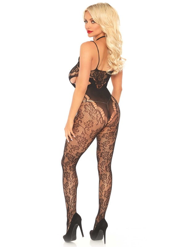 Catsuit Leg Avenue 89235 Lace bodystocking with cut out