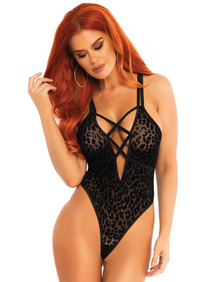 89251 String teddy with deep-V