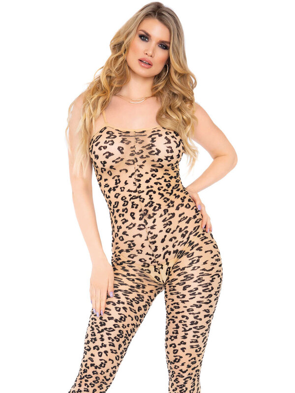 Catsuit Leg Avenue 89267 Leopard footless bodystocking