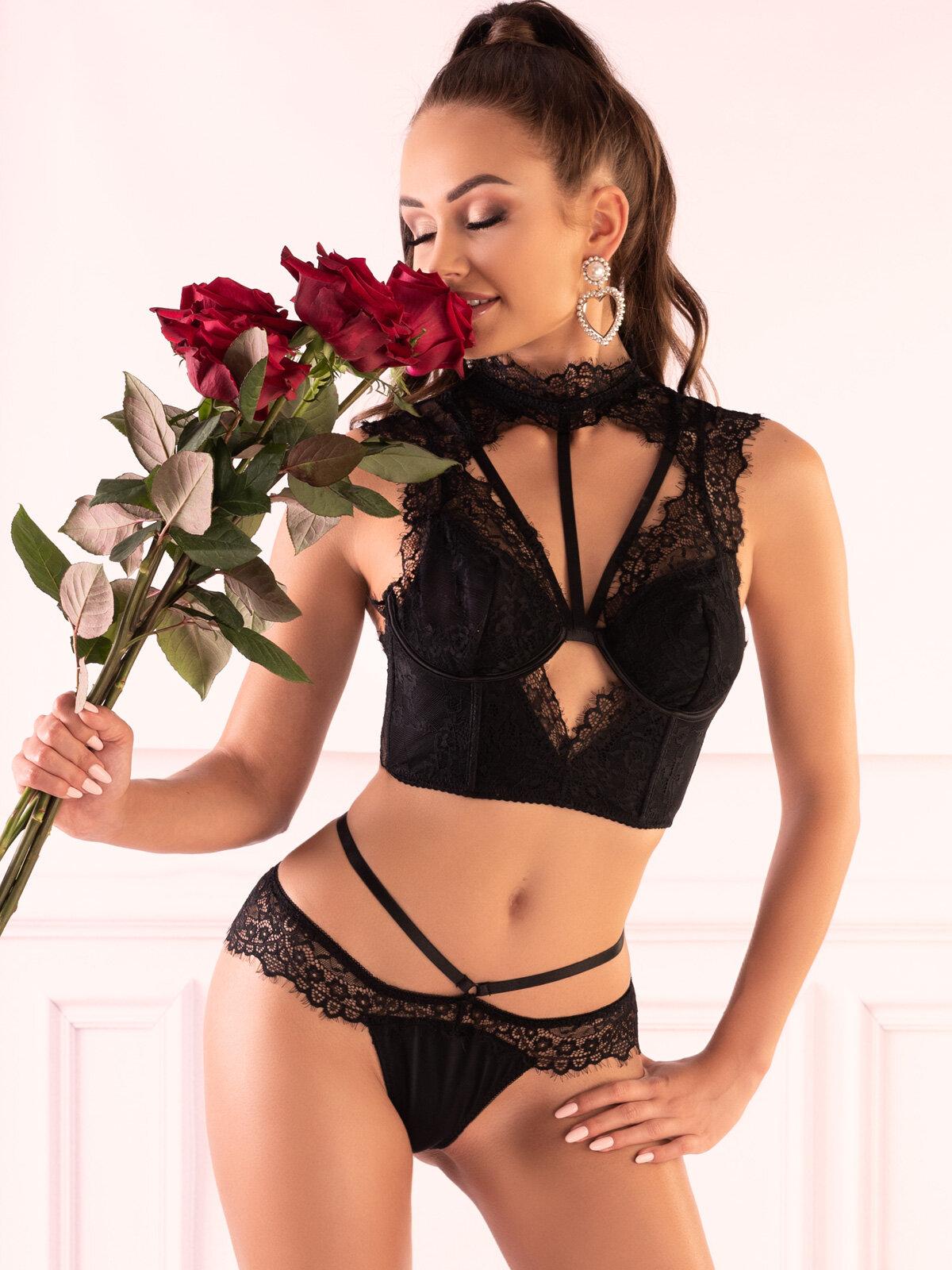 LivCo Set sexy Obsidian Negru