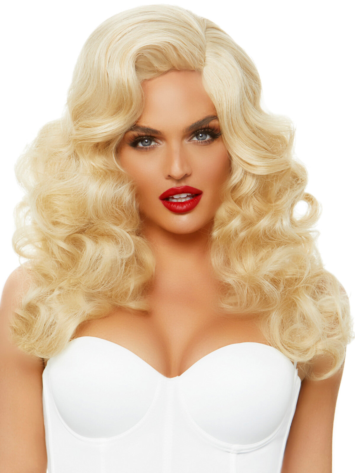 Peruca A2861 Bombshell long curly wig Galben