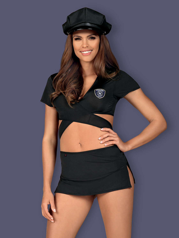 Obsessive Costum Police uniform Negru