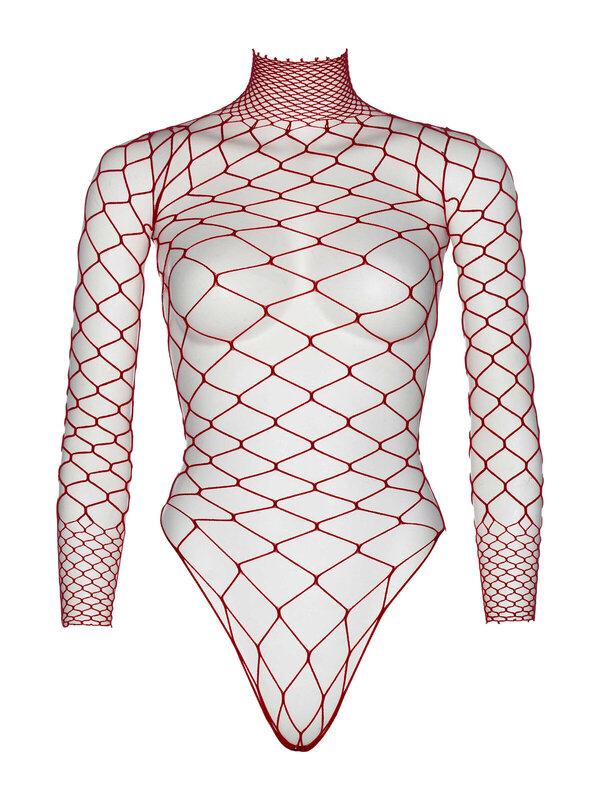 Body Leg Avenue 89210 Turtleneck fishnet teddy