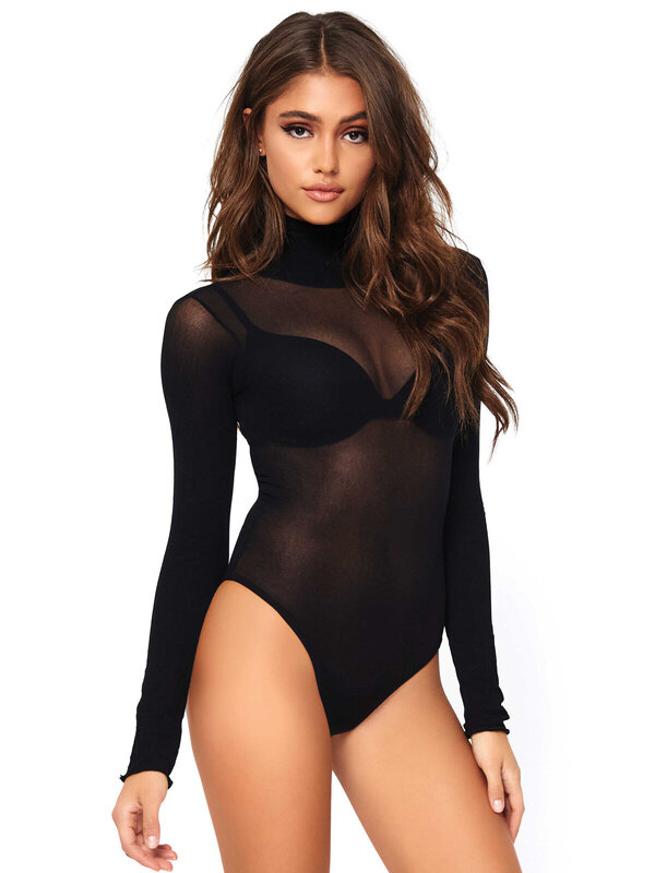 Body Leg Avenue 89228 Opaque high neck bodysuit