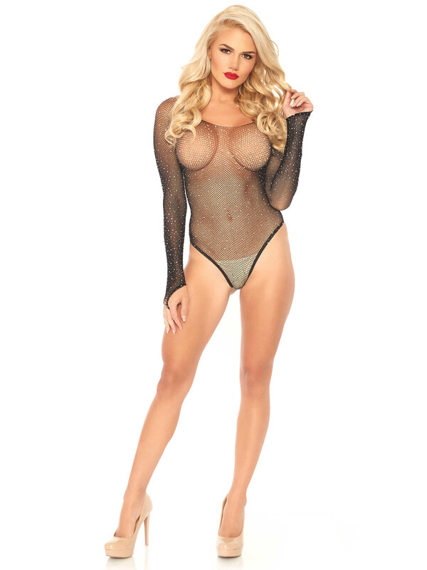 Body Leg Avenue 89231 Fishnet thong back bodysuit