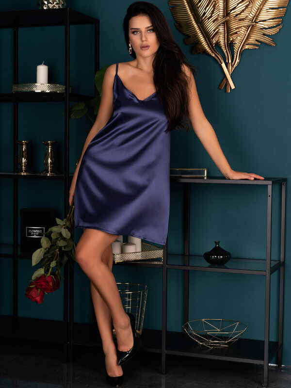 Chemise LivCo Mirdama navy blue
