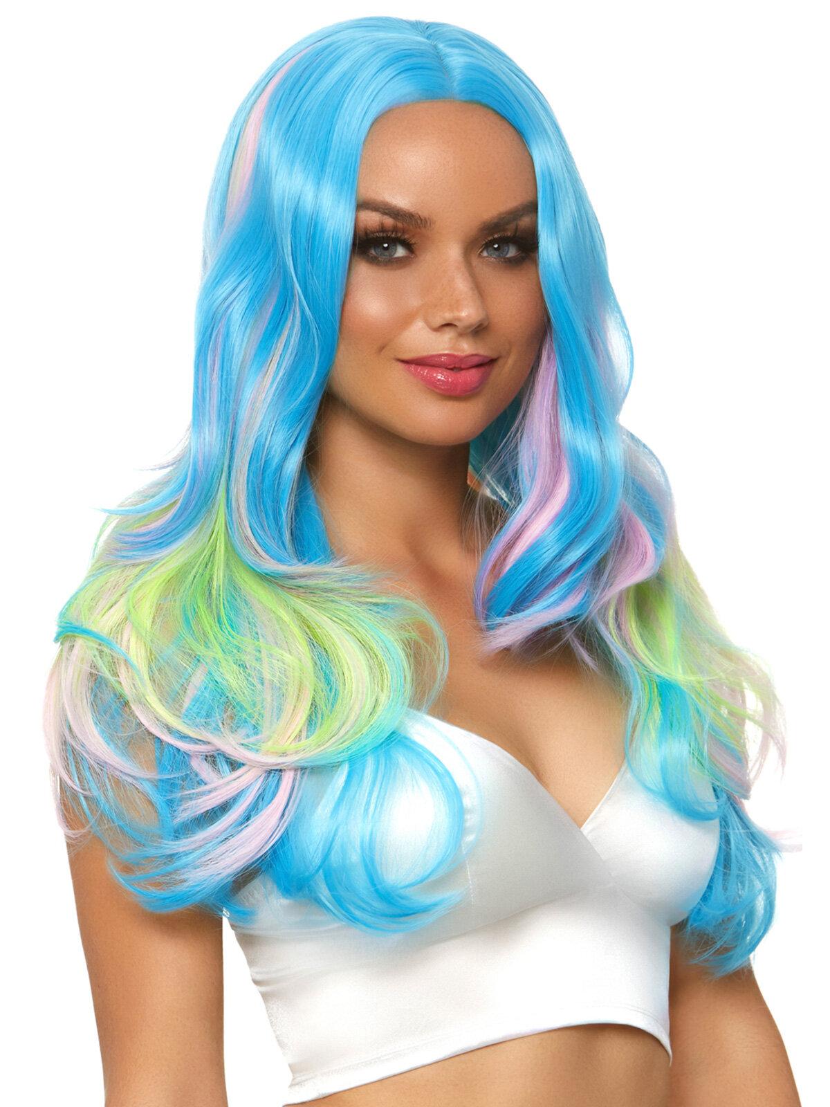 Peruca Mystic hue long wig Albastru