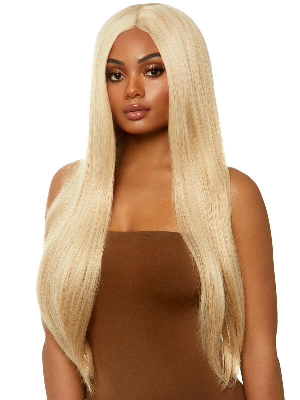 Peruca Long straight center part wig Galben LA_A2864