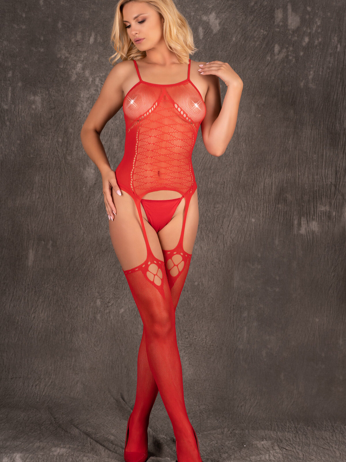 Catsuit Amrin Rosu LC_17328